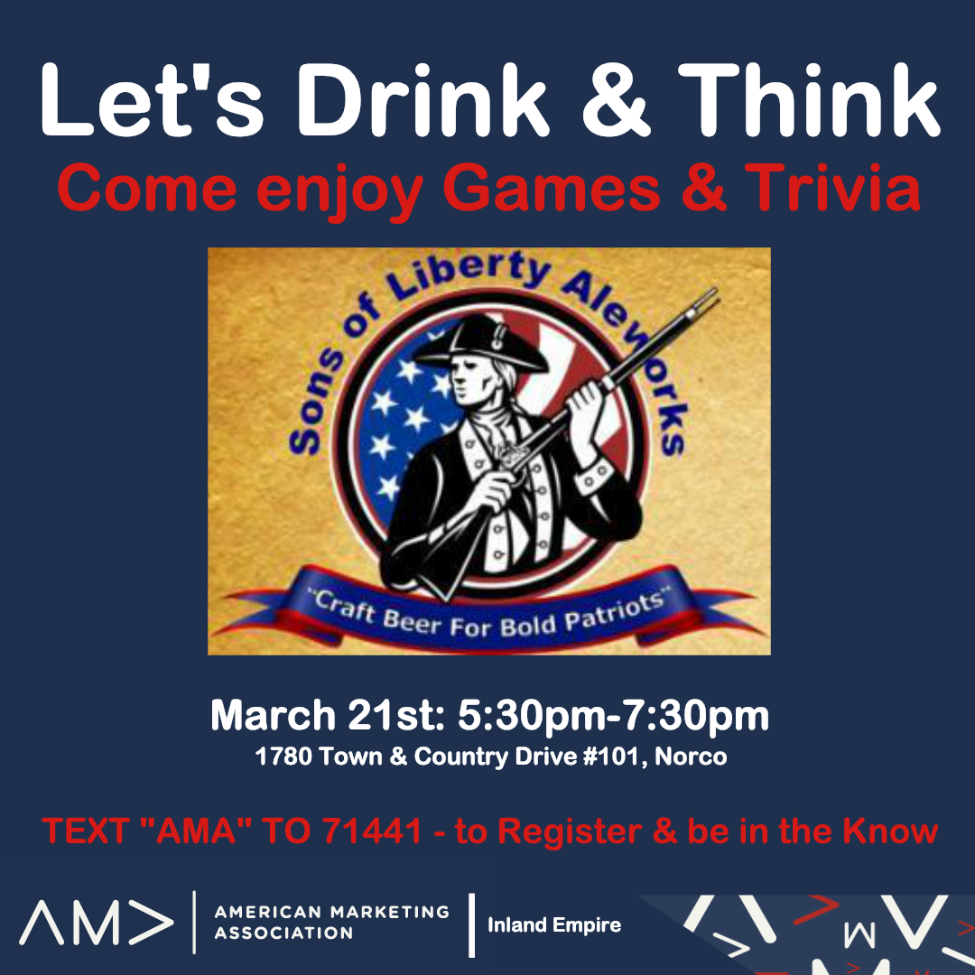 American Marketing Association Drink and Think Mixer