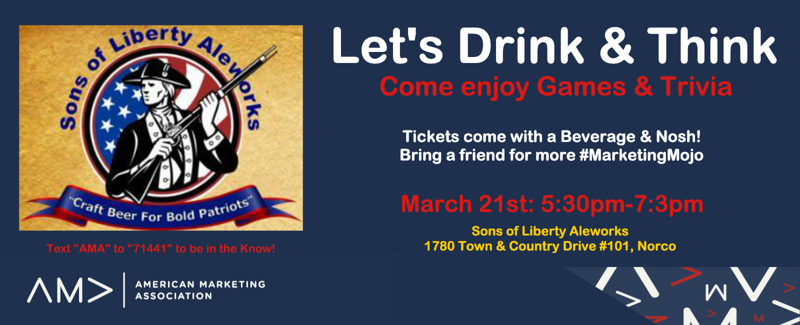 March 2019 Drink & Think Mixer